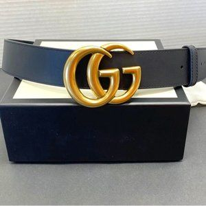 """NWT Black GG Marmont Belt Width: 3CM "" 90cm"